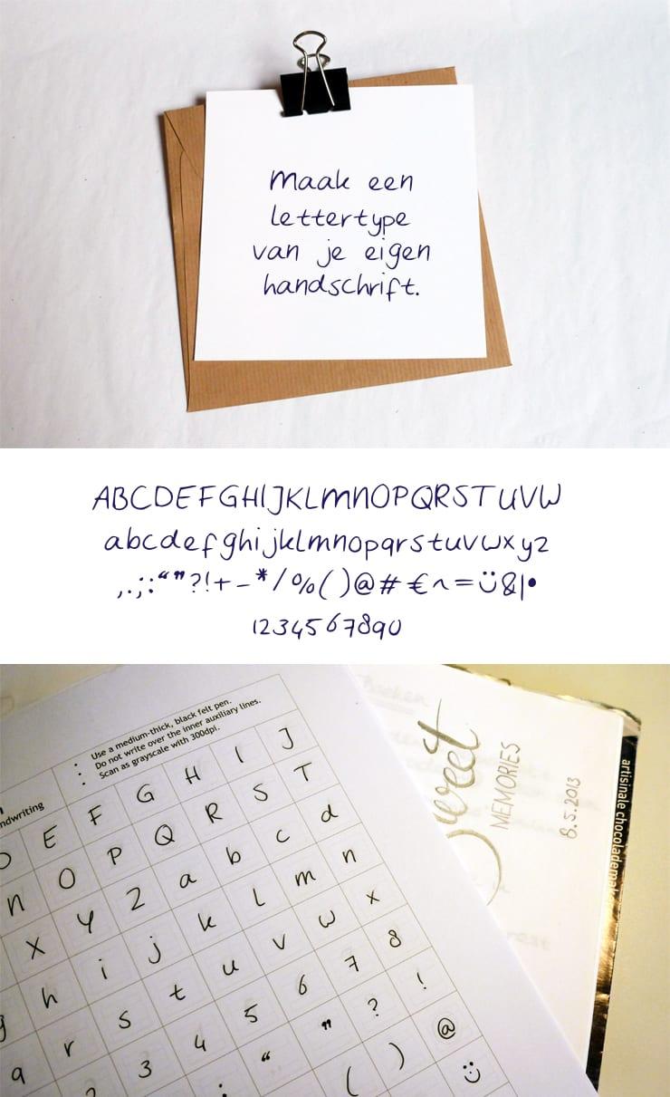 Maak een lettertype van je eigen handschrift