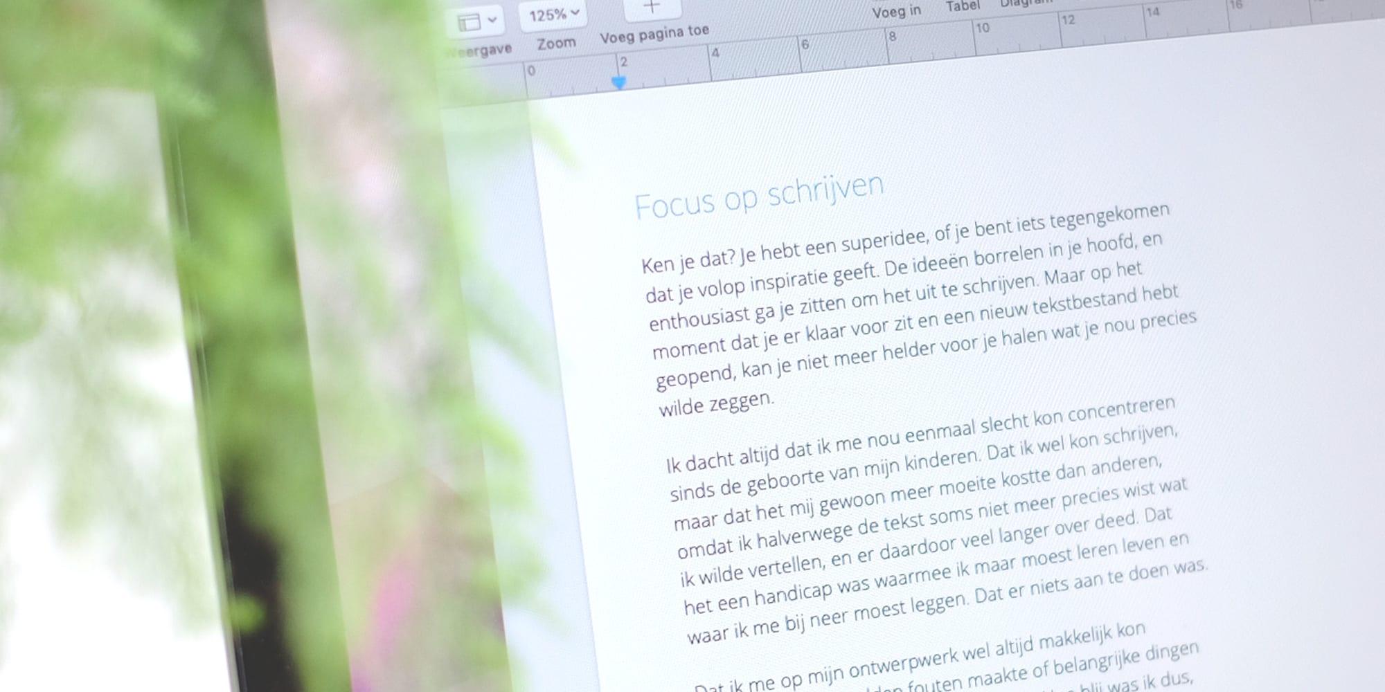 Tips voor meer focus bij het schrijven
