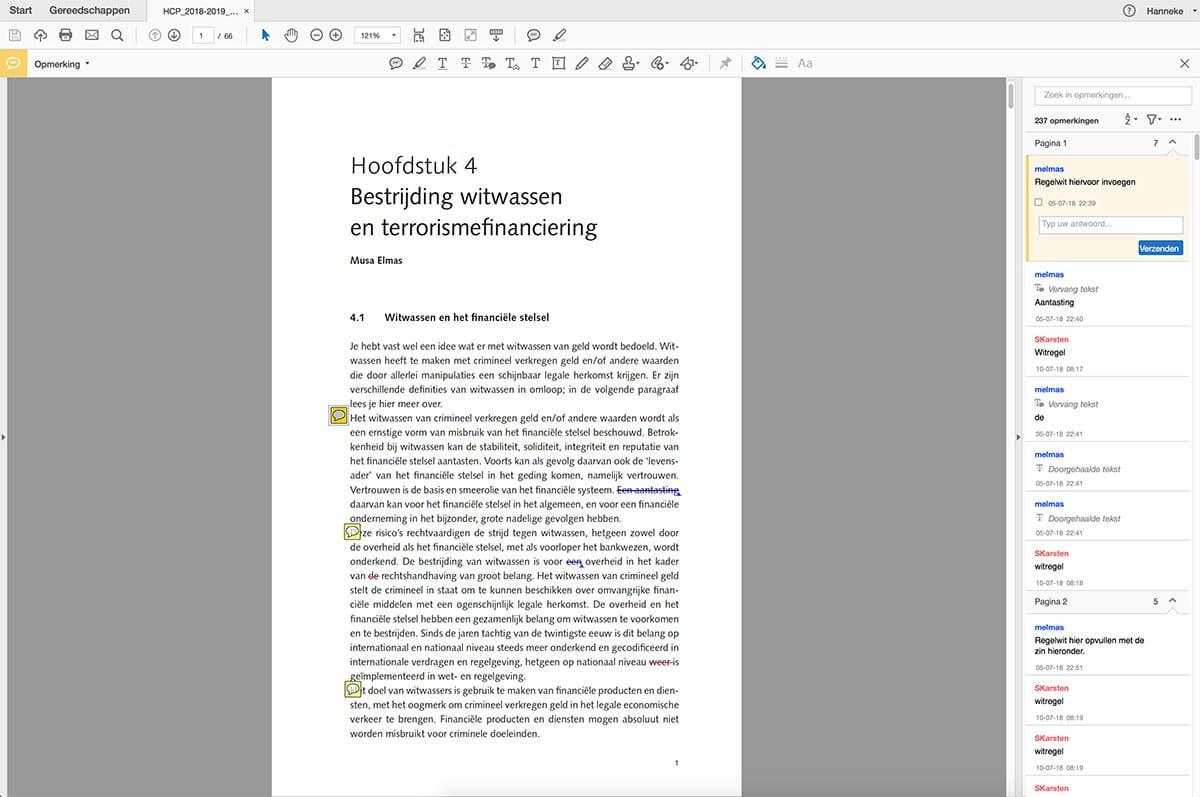 Correcties aangeven in een pdf