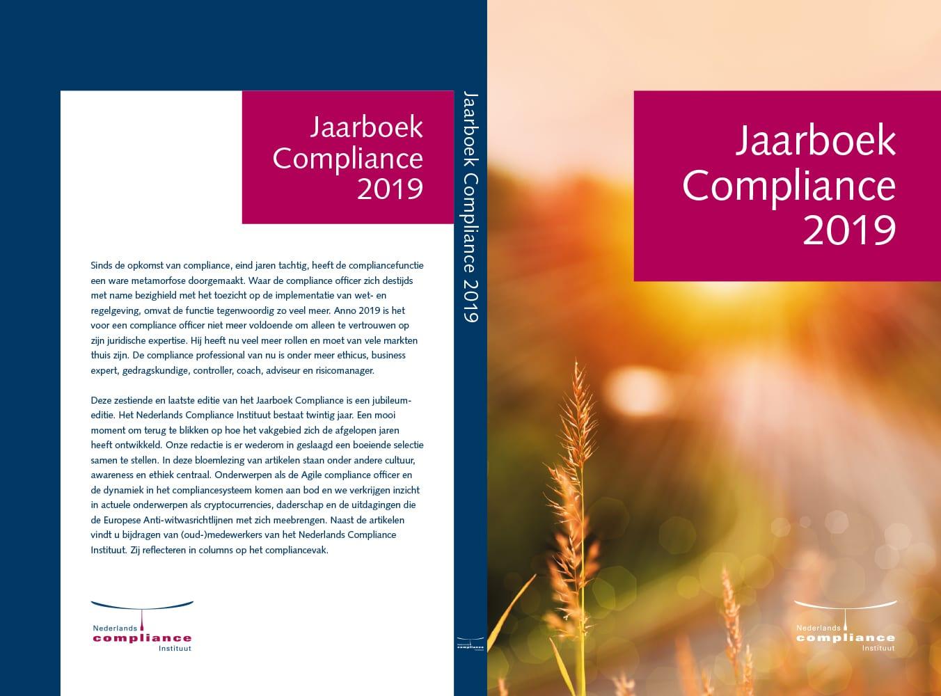 Jaarboek Compliance 2019 omslag