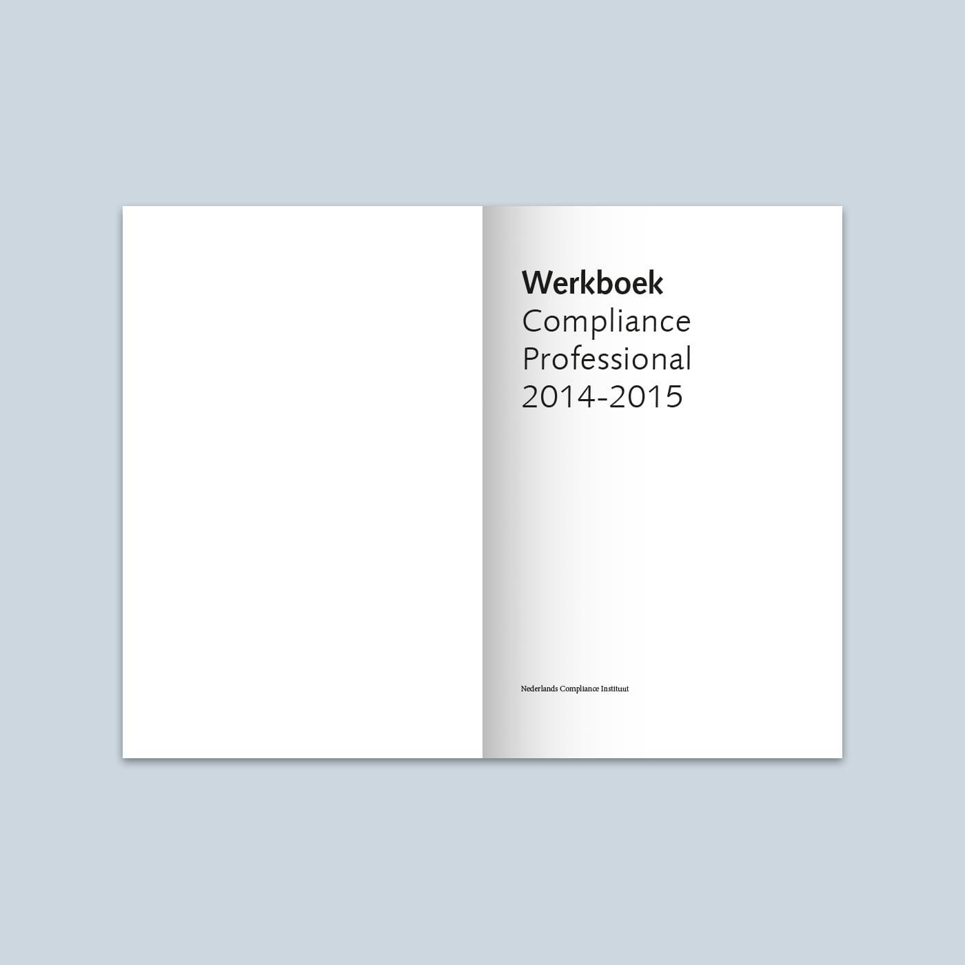 Werkboek Compliance Professional 2015 titelpagina