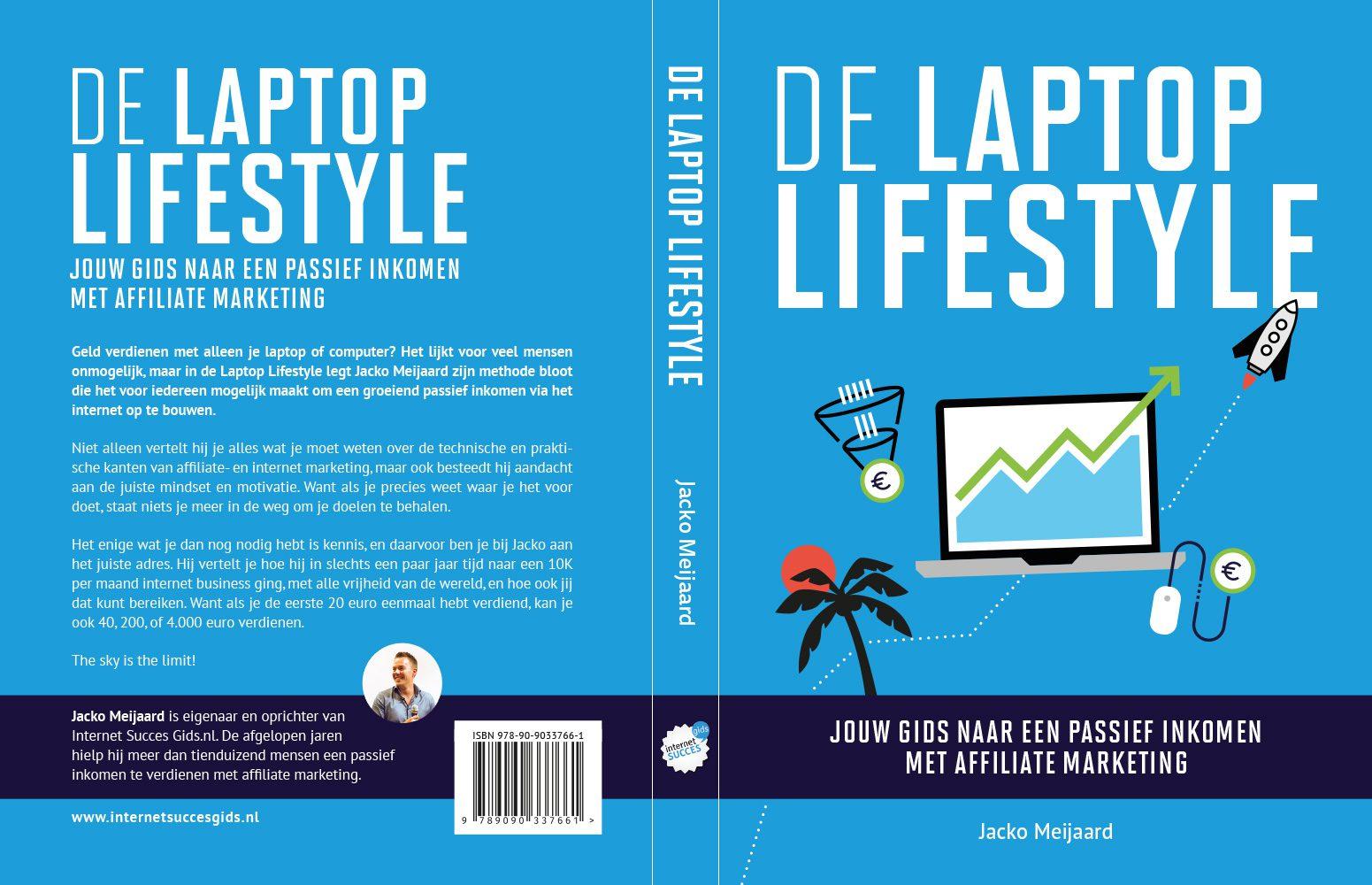 De laptop lifestyle omslag