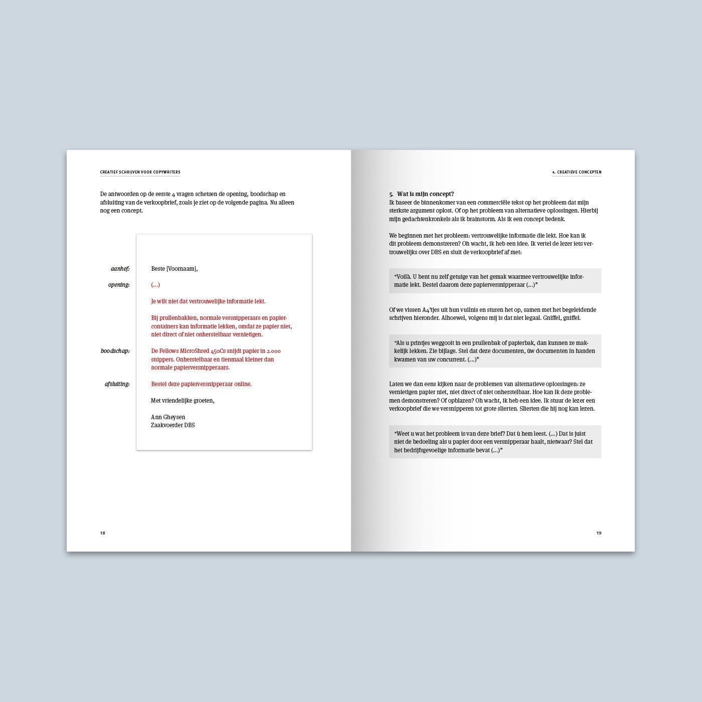 Creatief schrijven voor copywriters binnenwerk schets 3