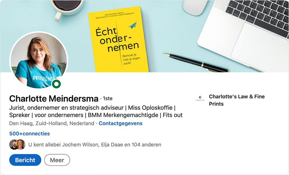 Promotie boek Echt ondernemen LinkedIn