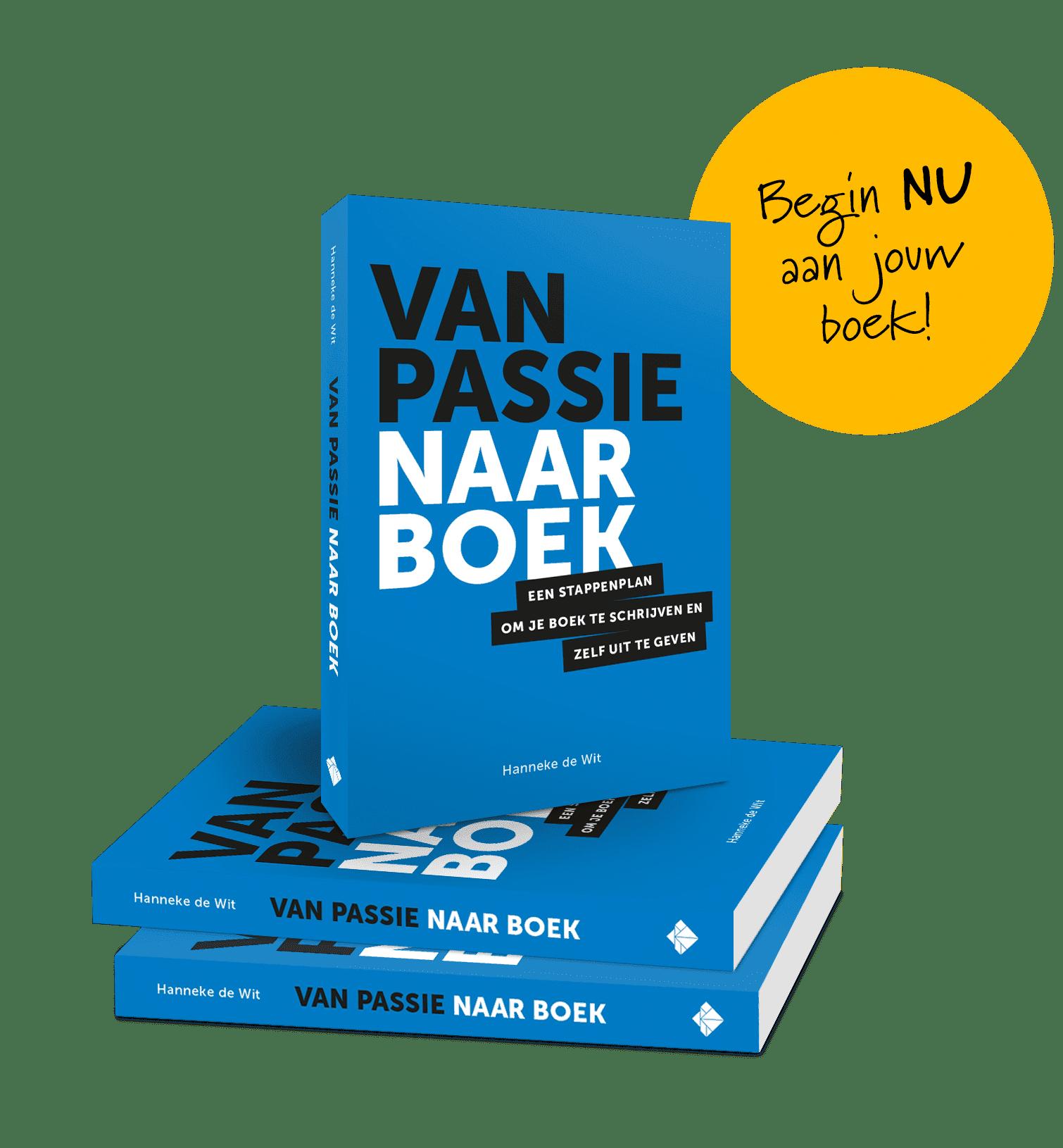 Promotie boek Van passie naar boek packshot